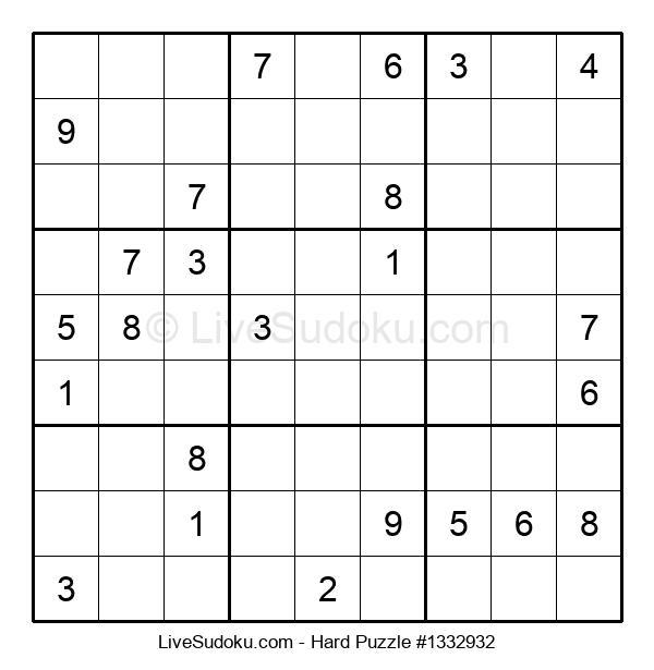 Hard Puzzle #1332932