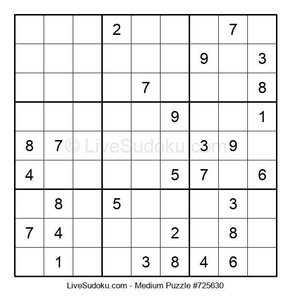 Medium Puzzle #725630