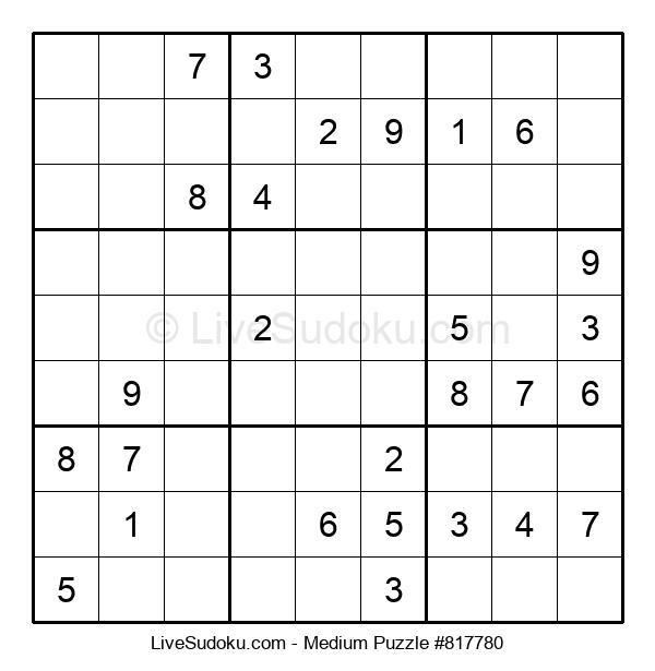 Medium Puzzle #817780
