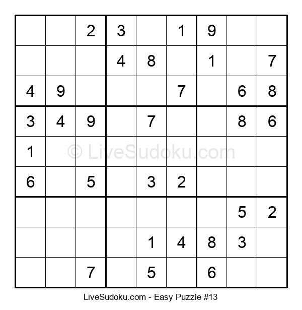 Beginners Puzzle #13