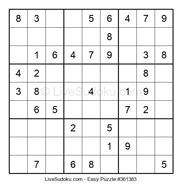Beginners Puzzle #361383