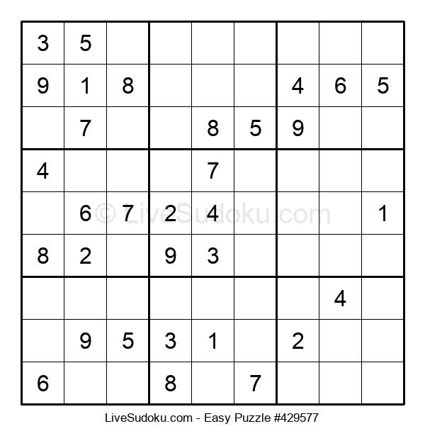 Beginners Puzzle #429577