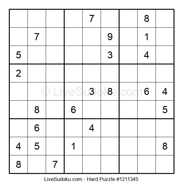 Hard Puzzle #1211345