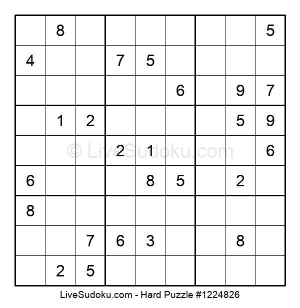 Hard sudoku printable