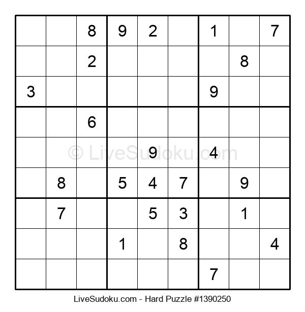 Hard Puzzle #1390250