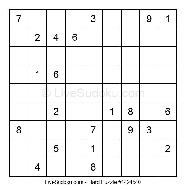 Hard Puzzle #1424540