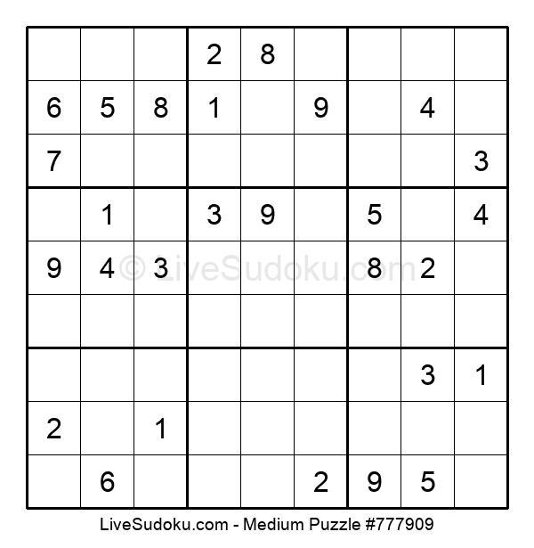 Medium Puzzle #777909
