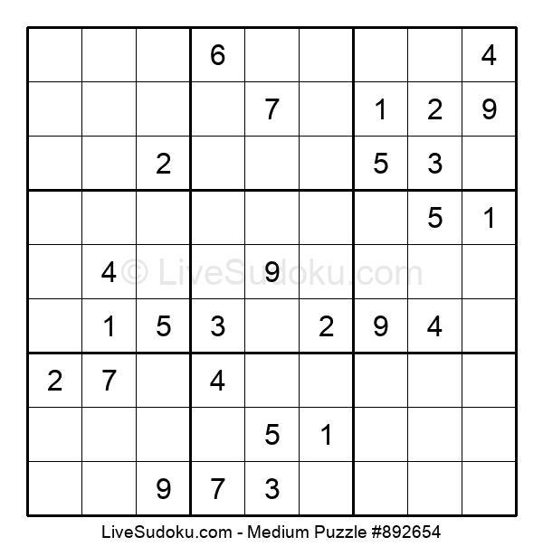 Medium Puzzle #892654