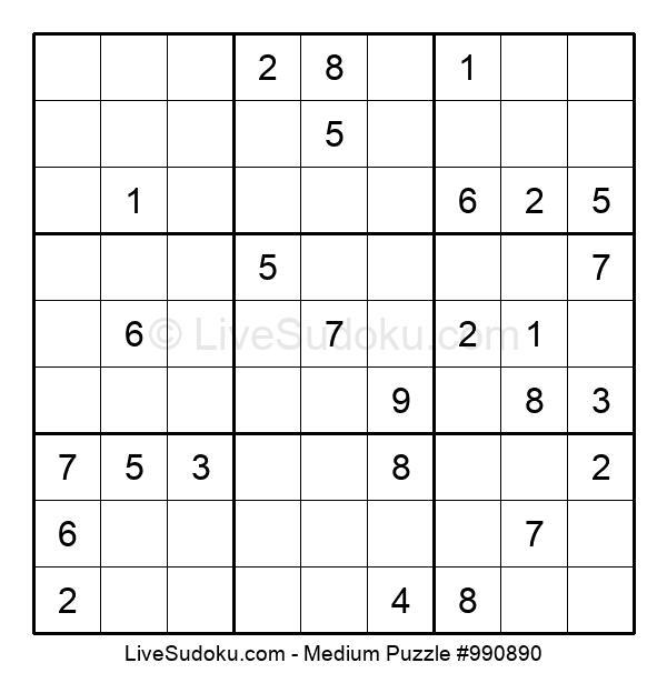 Medium Puzzle #990890