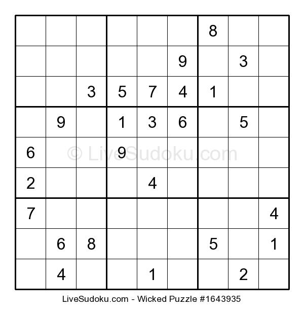 Daily Wicked Sudoku  (8/06/2019)