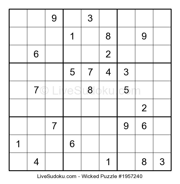 Daily Wicked Sudoku  (10/30/2019)