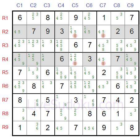 Sudoku X Wing