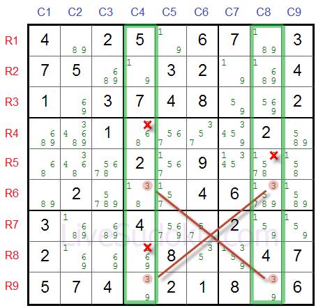 Sudoku X Wing Tutorial