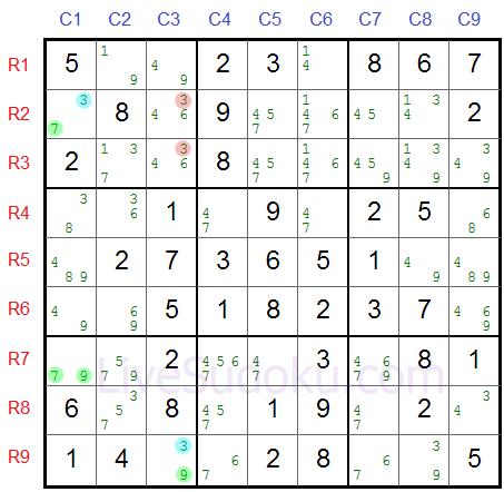 Sudoku Y Wing Tutorial