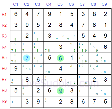 Sudoku XY Wing
