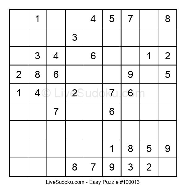 Beginners Puzzle #100013