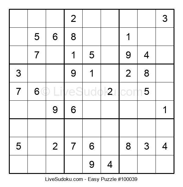 Beginners Puzzle #100039