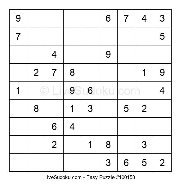 Beginners Puzzle #100158