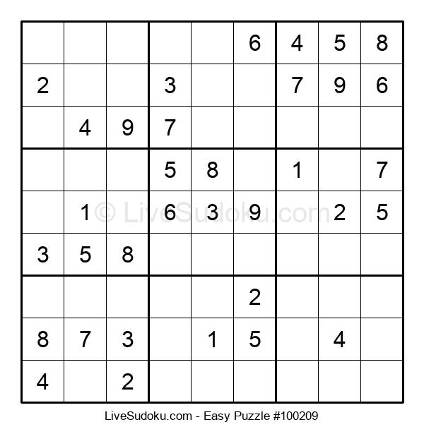 Beginners Puzzle #100209