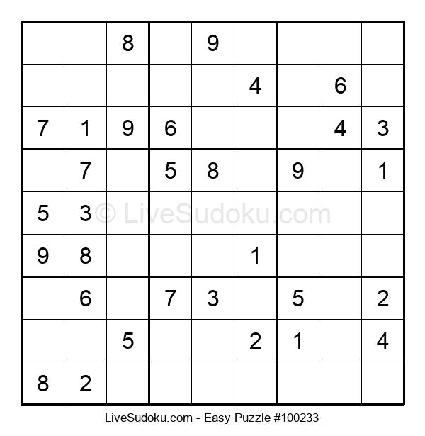 Beginners Puzzle #100233
