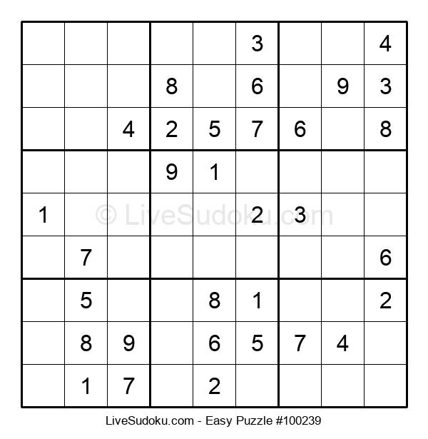 Beginners Puzzle #100239