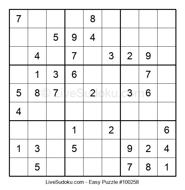 Beginners Puzzle #100258