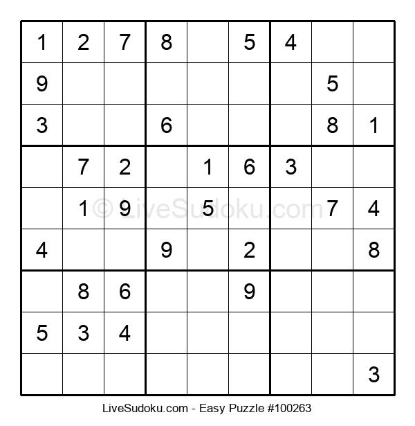 Beginners Puzzle #100263