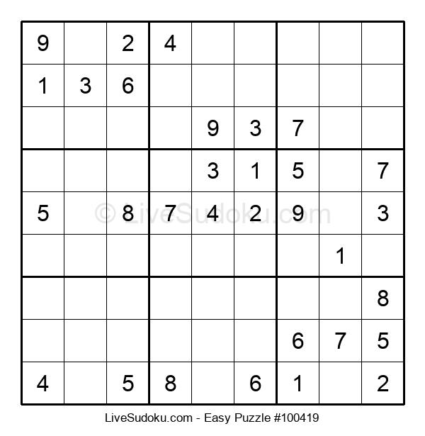 Beginners Puzzle #100419