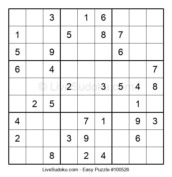 Beginners Puzzle #100526