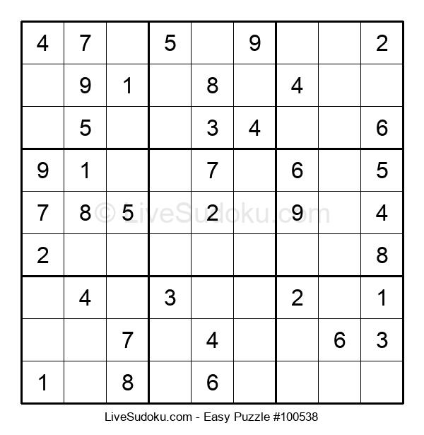 Beginners Puzzle #100538