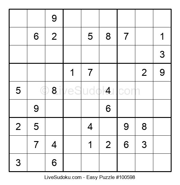 Beginners Puzzle #100598