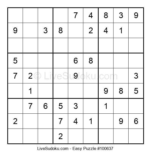 Beginners Puzzle #100637