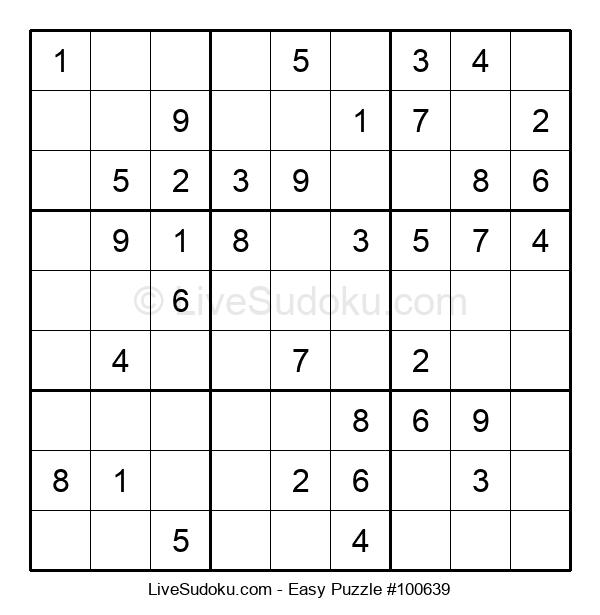 Beginners Puzzle #100639