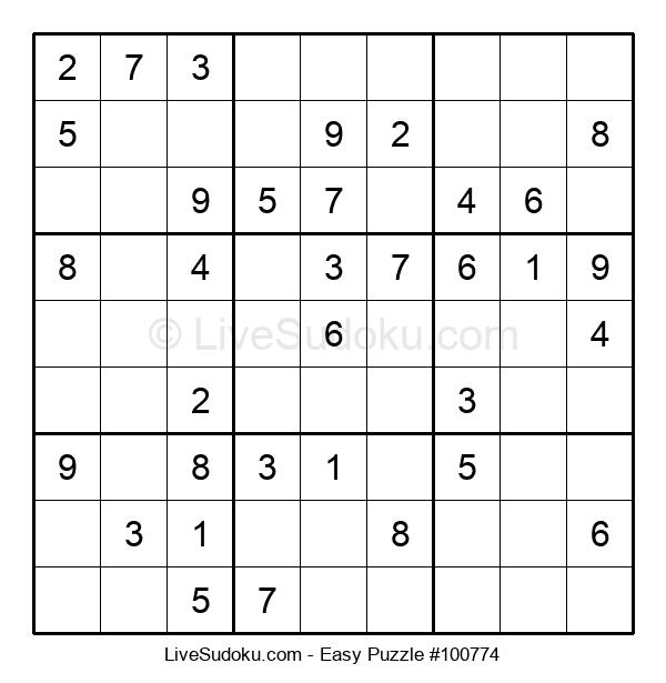 Beginners Puzzle #100774