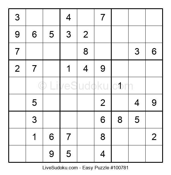 Beginners Puzzle #100781
