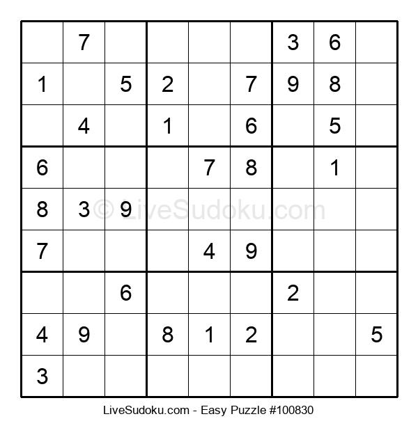 Beginners Puzzle #100830