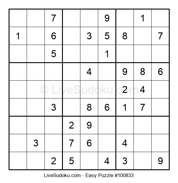 Beginners Puzzle #100833