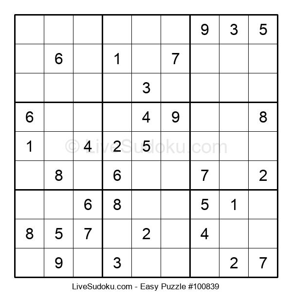 Beginners Puzzle #100839