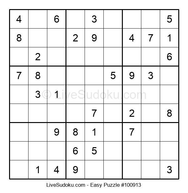 Beginners Puzzle #100913