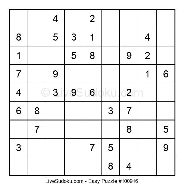 Beginners Puzzle #100916