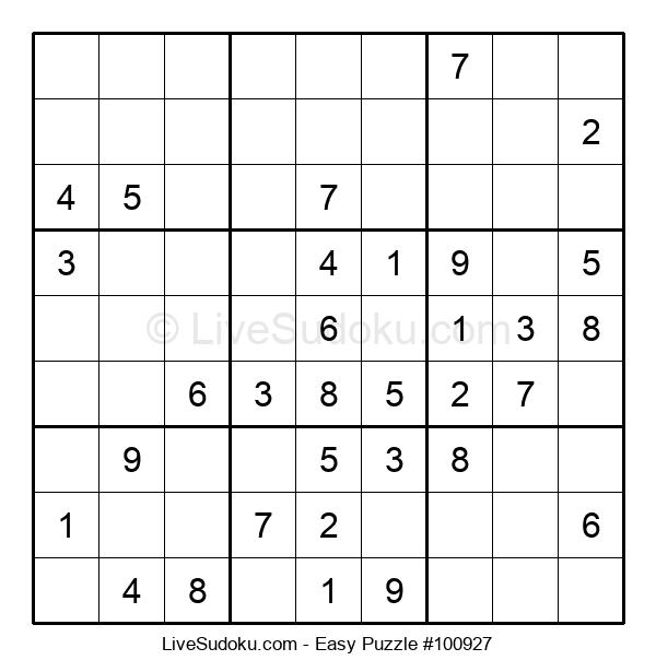 Beginners Puzzle #100927