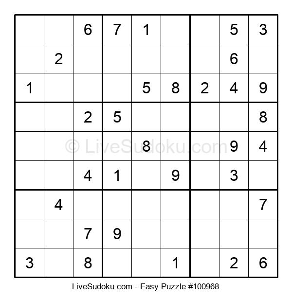 Beginners Puzzle #100968