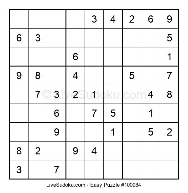 Beginners Puzzle #100984