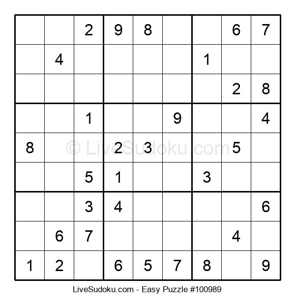 Beginners Puzzle #100989
