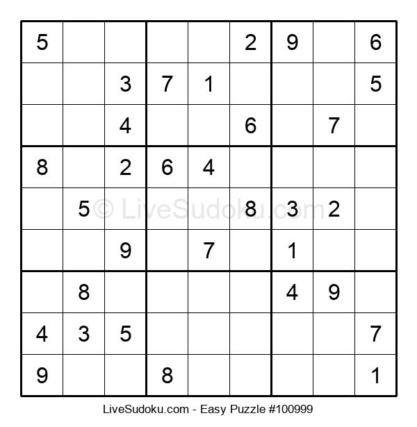 Beginners Puzzle #100999