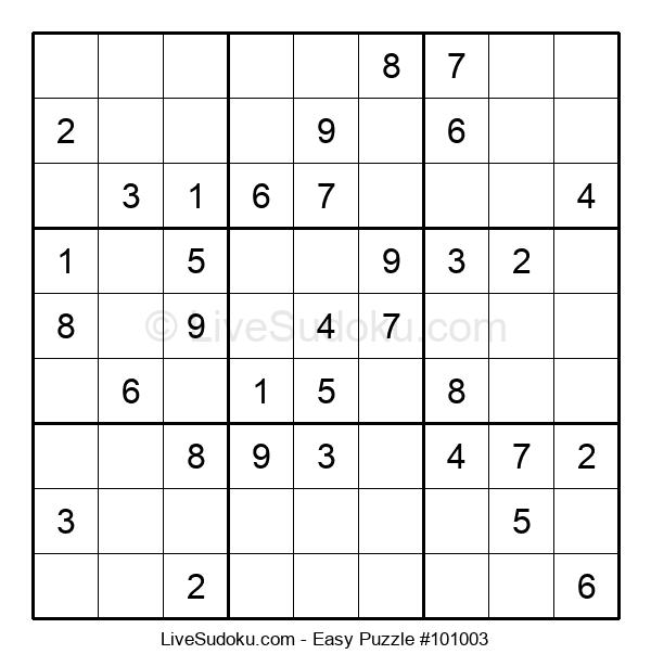 Beginners Puzzle #101003