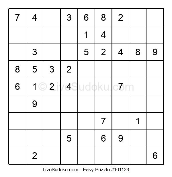 Beginners Puzzle #101123