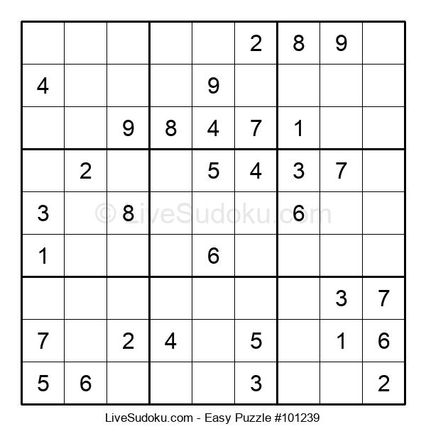 Beginners Puzzle #101239