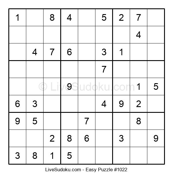 Beginners Puzzle #1022