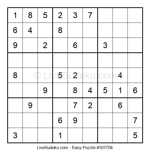 Beginners Puzzle #107758